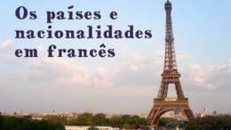 os paises e nacionalidades em francês